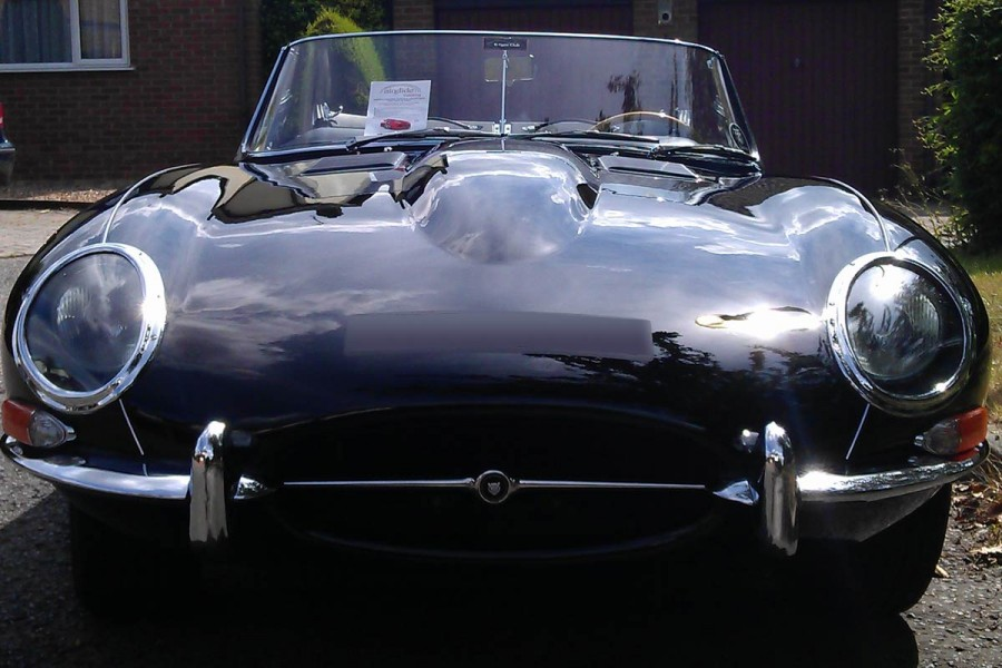 E-type Jaguar with Airglide
