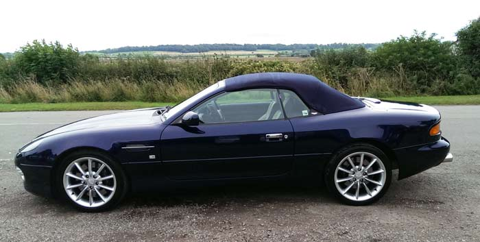 Surface Protectant to an Aston Martin DB7