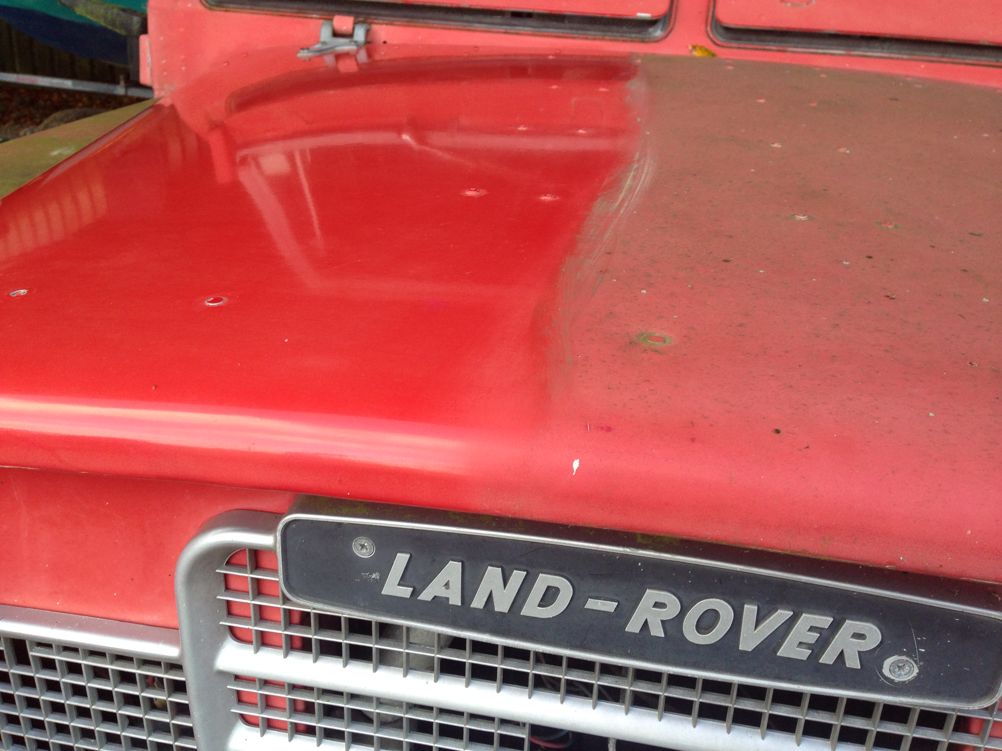 Incredible results on an old Land Rover fire truck